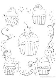 free cupcake coloring picture print fun coloring pages