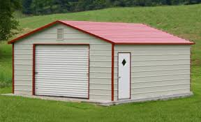 Steel Barns Sale One Car Steel Garage Building Kit Price