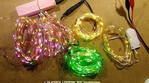 copper wire led lights fixing low voltage copper wire led strings youtube