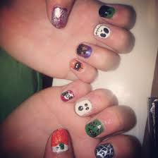 halloween nails halloween monsters nail art mummies witches easy