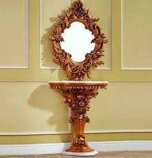 Entrance Tables And Mirrors Baroque Console Table 02 Hallway