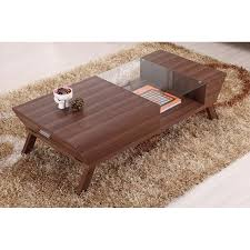 Walnut Wood Coffee Table Furniture Of America Lawson Modern Walnut 2 Drawer Coffee Table
