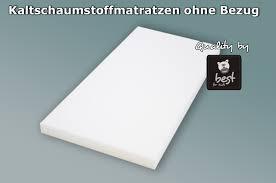 matratze 70 x 140 bfk schaumstoffmatratze ohne bezug polster schaumstoff matratze