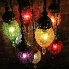 Glass Blown Chandeliers by Chandelier Of Color In Blown Glass And Brass Mosaic Lamps Nyc