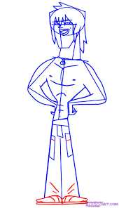 how to draw justin from total drama action step by step cartoon