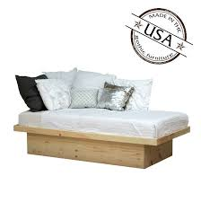 twin platform bed in pine