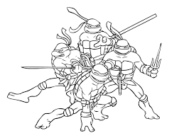 teenage mutant ninja turtle coloring page free coloring pages on