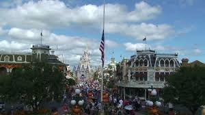 Why Are The Flags Flying Half Mast Magic Kingdom American Flags At Half Staff In Memory Of Steve Jobs