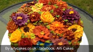 autumn garden cake youtube