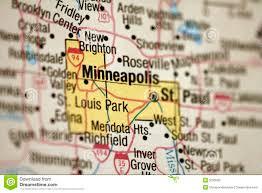 Minneapolis Metro Map by Map Of Minneapolis Minnesota Stock Photos Image 5033563