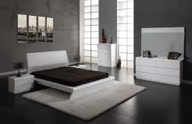 Modern White Bed Frames White High Gloss Finish Modern Bedroom W Options