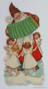 ornament santa with accordion