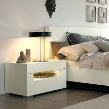 High Gloss Side Table Side Table Modern White Gloss Bedside Tables Contemporary White
