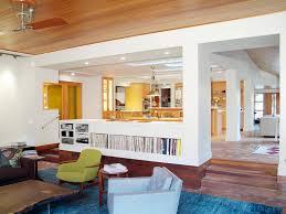 Split Level Basement Ideas - living room family room modern decor white cabinet storage