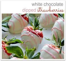 White Chocolate Dipped Strawberries White Chocolate Dipped Strawberries Tonya Staab
