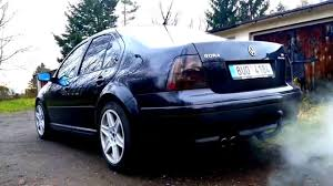 volkswagen bora modified vw bora 2 8 vr6 exhaust sound youtube
