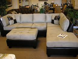 furniture black microfiber sectionals suede sectional sofa