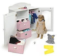 18 inch doll storage cabinet amazon com 18 inch doll clothing storage unit closet armoire