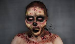 zk blog easy zombie sfx makeup halloween 2015