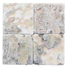 Tumbled Slate Backsplash by Antique Onyx Travertine Tumbled 4x4 Backsplash Pinterest