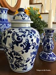white ginger jar l antique jar blue ls oregonuforeview com