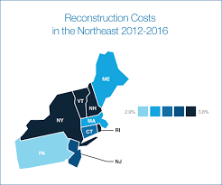 Map Northeast Usa by Why Did Northeast Lead U S In Reconstruction Cost Hikes Verisk