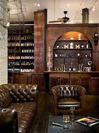 Brown Leather Armchair Design Ideas Brown Leather Backrest Bar Stools Bar Ideas Cave Leather