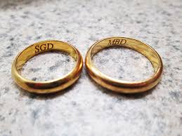 rings with initials wedding ring engravings words to be chosen for wedding