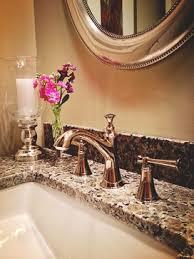 Brizo Tresa Kitchen Faucet Powder Room Faucet Polished Nickel Granite Counters Rectangular