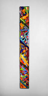mardi gras wall panel by helen rudy art glass wall sculpture
