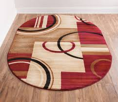 Red Area Rug by Deco Rings Red Geometric Modern Casual Area Rug Easy To Clean