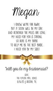 will you be my bridesmaid poems will you be my bridesmaid wine bottle by katilillie on etsy