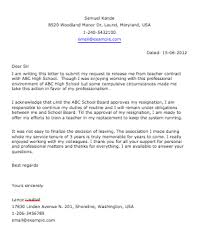 resume examples templates example of letter of resignation for