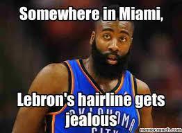Lebron James Hairline Meme - 20 hilarious james harden memes sayingimages com