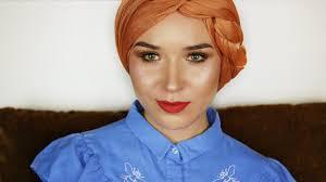 tutorial hijab nabiilabee turban tutorial side braid nabiilabee youtube