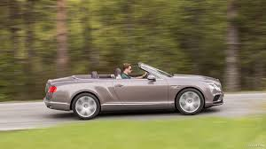 bentley v8s convertible 2016 bentley continental gt v8 convertible silver taupe side