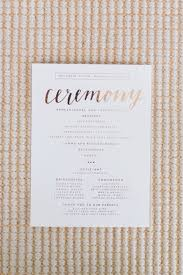 Wedding Ceremony Programs Diy Blogger Bride Jessye Of City Tonic U0027s Colorful Diy Wedding