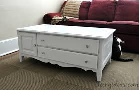 White Painted Coffee Table by Country Pine To Farmhouse Chic Teeny Ideas