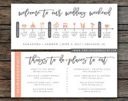 Destination Wedding Itinerary Wedding Itinerary