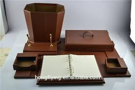 Desk Organizer Leather Leather Desk Accessories Attractive Luxury Desktop Accessories And