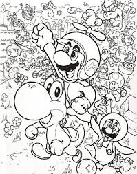wonderful mario brothers characters coloring pages