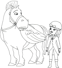 minimus horse animal plus princess sofia coloring pages with book