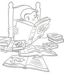 curious george printable coloring book page for kids curious