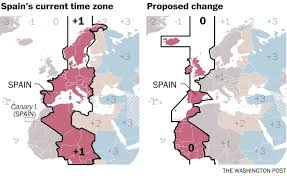 Time Zone Map For Usa Fascism Helped Create A Time Zone Oddity In Spain 70 Years Later