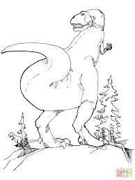 little angry dinosaur coloring page free printable coloring pages