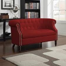 Handy Living Sofa Handy Living Chesterfield Loveseat Red Velvet Bj U0027s Wholesale Club