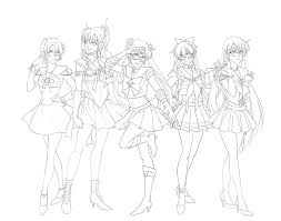 sailor scouts protptype ink by emily fay on deviantart