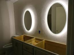 backlit bathroom mirrors uk inspiring bathroom backlit mirror bathrooms double round bathroom