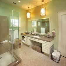 ada bathroom bathroom transitional with hexagon tile white