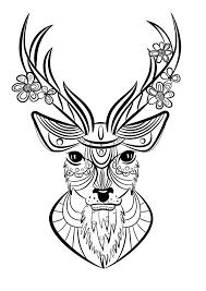 Coloriage animaux Cerf  ManMan Stuffies  Pinterest  Coloriage